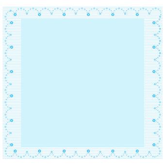 하늘색 줄무늬와 레이스 프레임