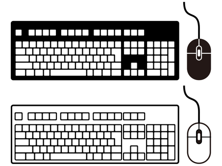 Keyboard and mouse icon 001