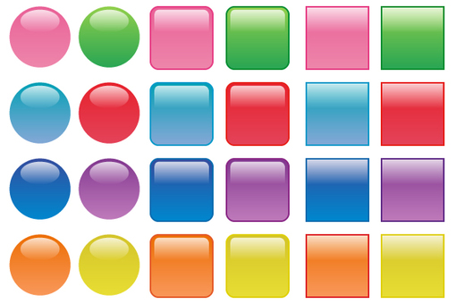 Button Aqua (circle, square)