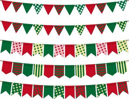 깃발 크리스마스 컬러