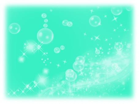 Glittering background foam Emerald green