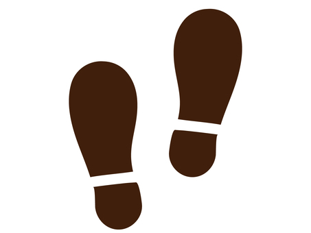 Footprints of shoes