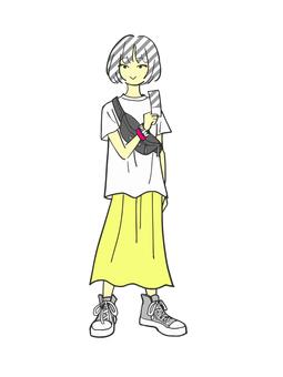 라이브 여자 (옐로우)