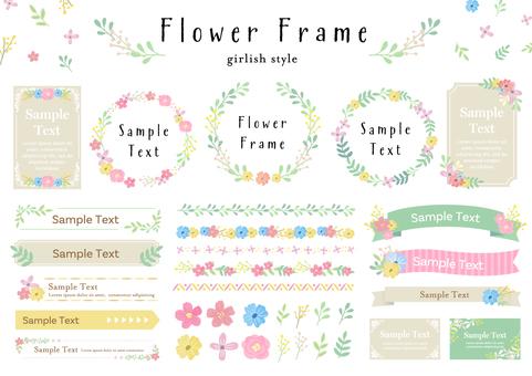 Set material 060 flower frame set