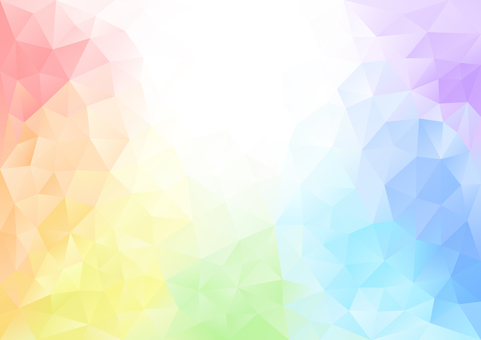 Polygon rainbow color background