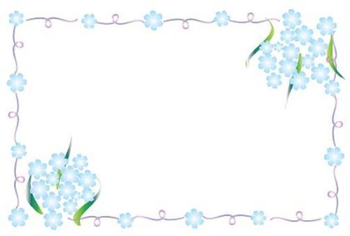 Light blue flower frame frame
