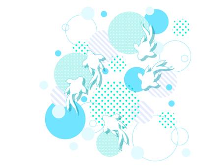 Illustration of polka dots and goldfish