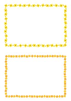 Flame frame yellow