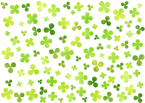 Watercolor touch clover wallpaper