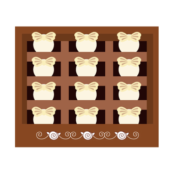 Boxed Ribbon Chocolate