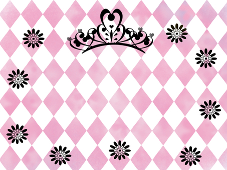 Diamond and tiara pink