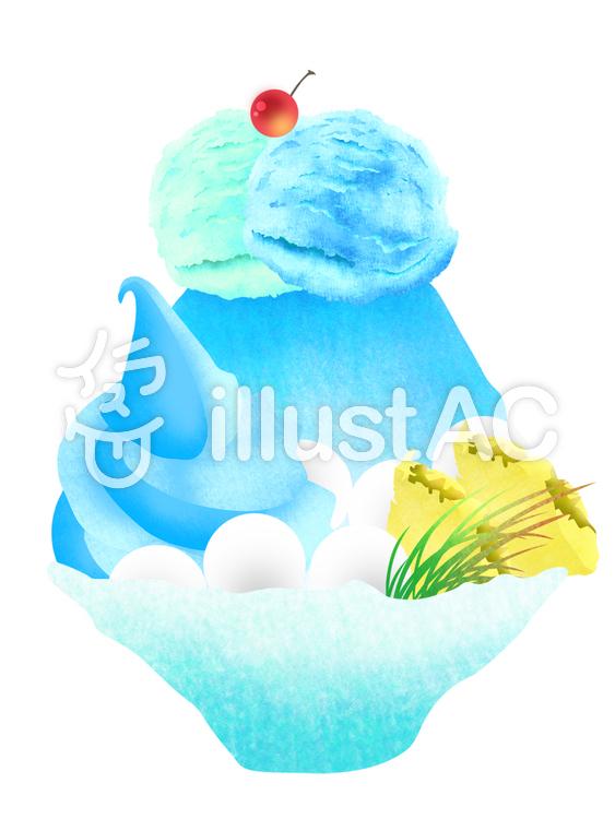ブルーハワイかき氷