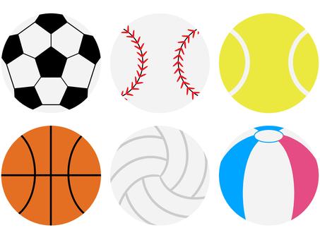6 types of balls set