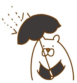 자외선 차단하고있는 북극 곰