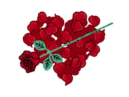 紅玫瑰材料