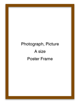 Poster frame longitudinal (brown)
