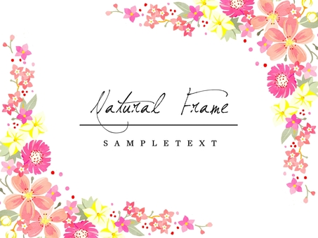 Natural frame material 03 Pink