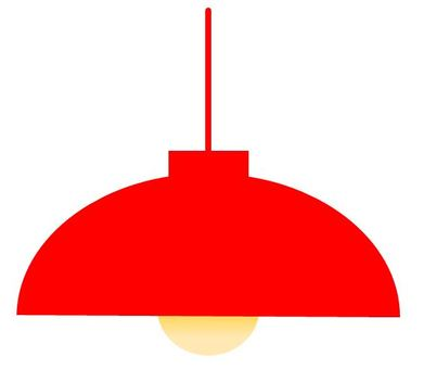 Pendant light red