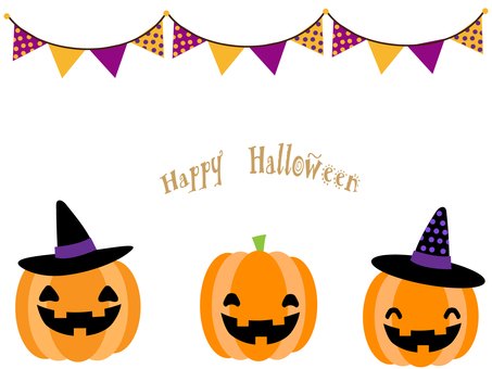 Halloween frame kite (pumpkin and flag)