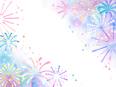 Fireworks frame (left and right)