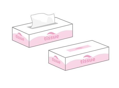 Tissue paper box (pink)