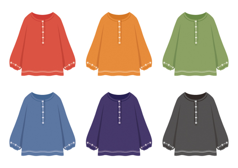Embroidery blouse (6 colors)