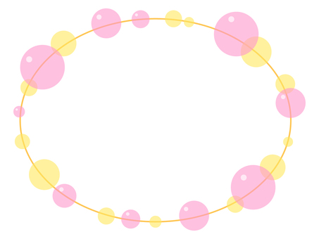 Soap bubble frame (pink)