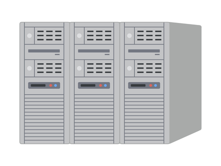Server computer with 3 lines