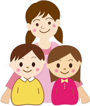 Gentle teacher and children