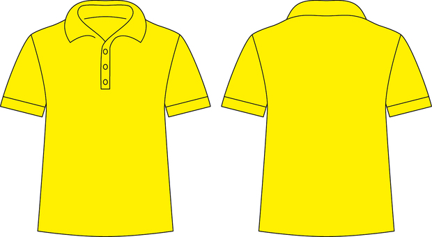 Polo shirt _ front / back _ yellow