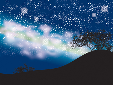 Night sky _ prairie