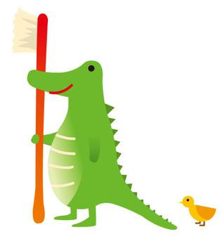 Toothpaste alligator