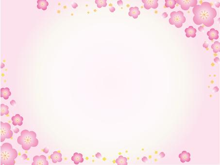 Japanese paper _ flower pattern _ plum 2