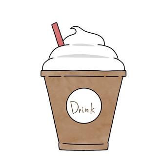 Illustration of coffee float