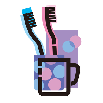 Tooth brushing supplies icon