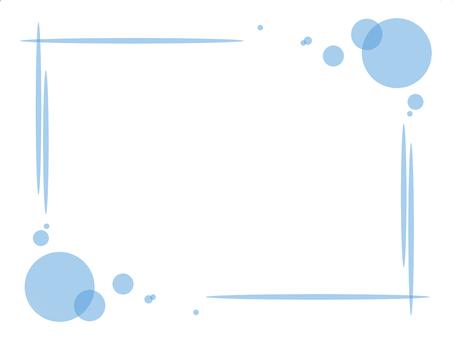 Fluffy square frame (light blue)