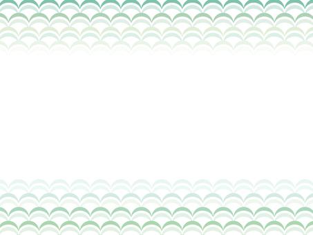 """Wave frame """"Green"""""""