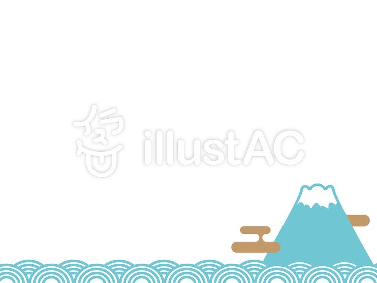 シンプルな富士山の飾り枠イラスト No 107030無料イラストなら
