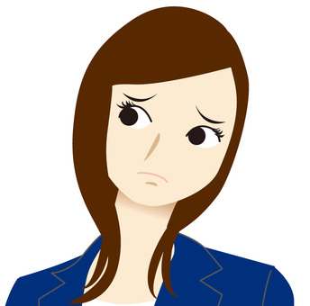 Woman person Troubled face