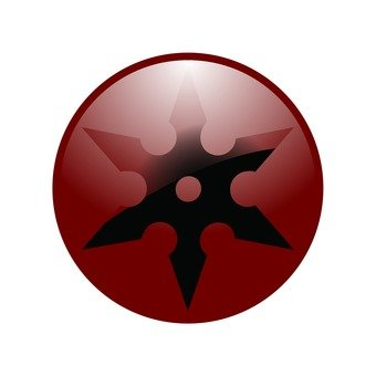 Shuriken icon (red)