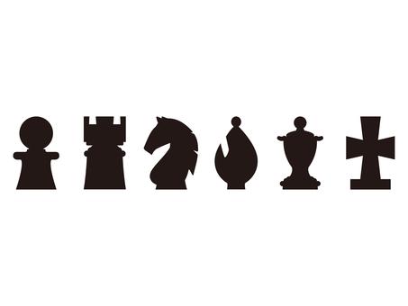 체스 말 기호 검정