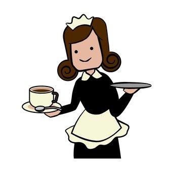 카페 웨이트리스 커피