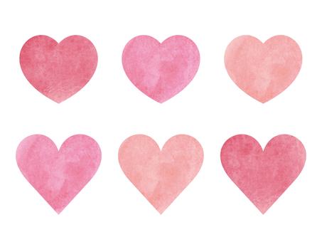 Watercolor-like heart