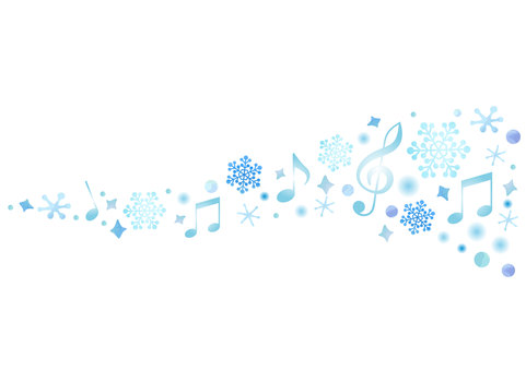 Decorative material 092 Musical note line