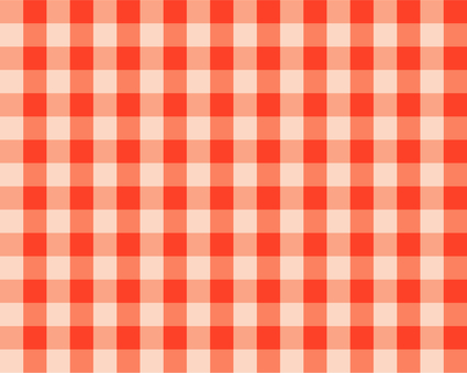 Gingham check - gold red