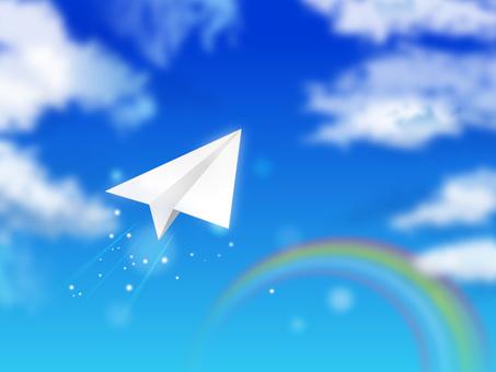 蓝蓝的天空和纸飞机06