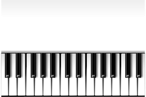 White piano (horizontal)