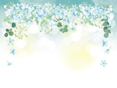 Flower frame blue star 1