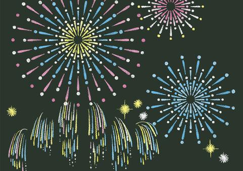 Fireworks 1 blackboard style