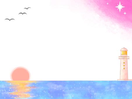 Sea frame (evening)
